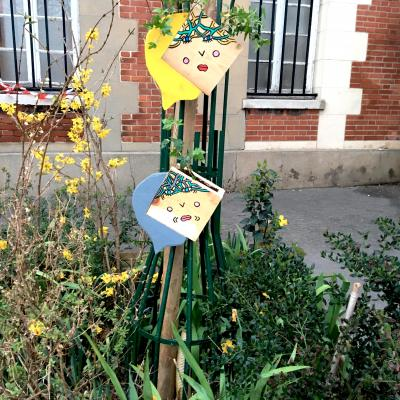 Pots de fleurs artistiques