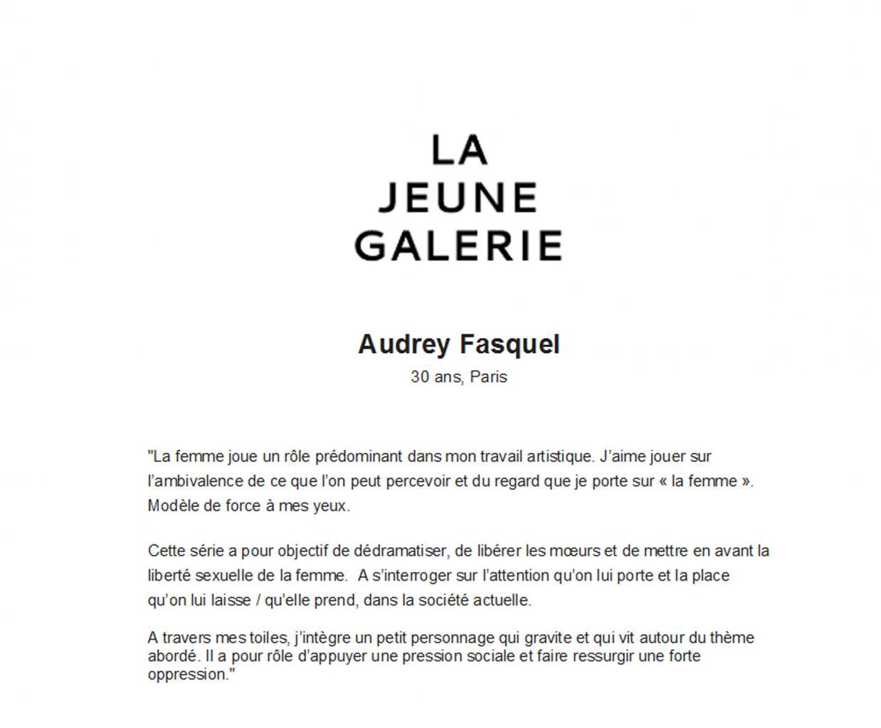NEWSLETTER - LA JEUNE GALERIE