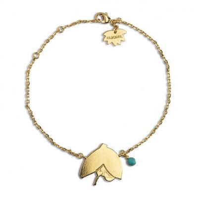 Bracelet feuille coeur